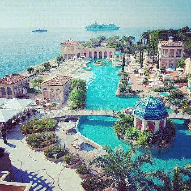 So beautiful...I am ready to go back. Monte Carlo Bay Hotel & Resort, Monaco, Italy.  TheInspiredJourney.com