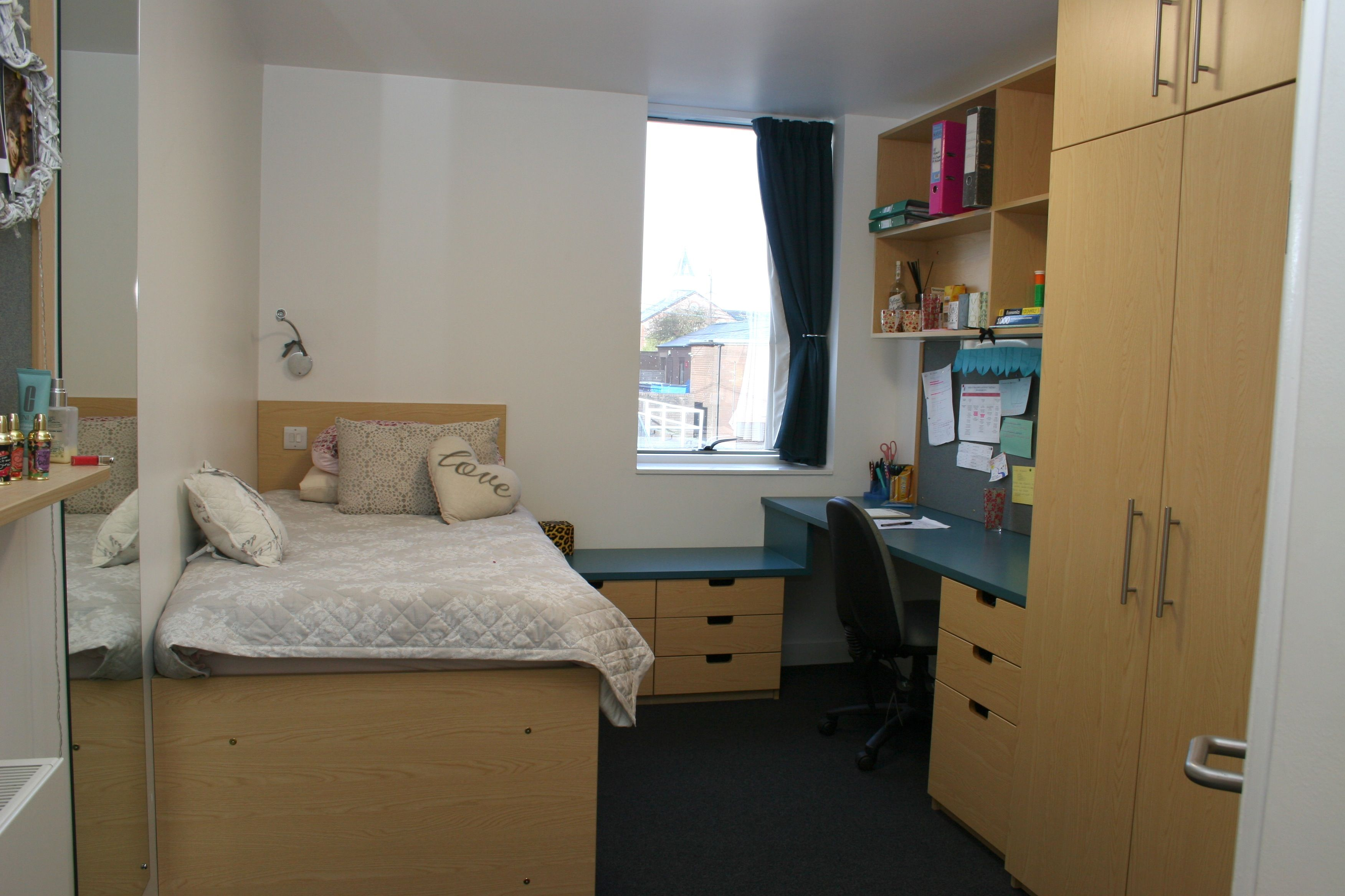 We Installed The Suites Of Bedroom Furniture At Haberdashers Monmouth School For S This Bespoke Suite Included A Bed Desk Wardrobe And Set