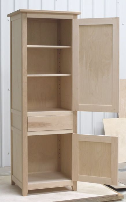 Small Larder Cupboard Before Painting Solid Maple Carcass Construction With Birch Ply Panels And Shelv Diy Storage Cabinets Larder Cupboard Wood Furniture Diy