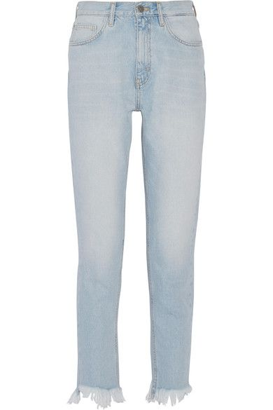 Mimi Frayed High-rise Slim-leg Jeans - Mid denim Mih Jeans coOeGueh3