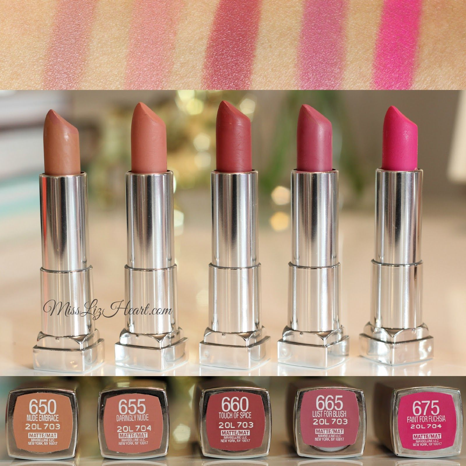 12 Sensational Schemes That Are: New Maybelline Color Sensational Creamy Matte Lipstick