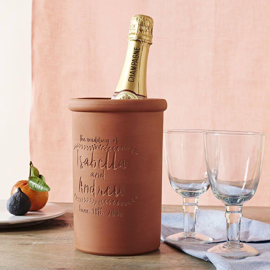 Personalised Terracotta Wine Cooler