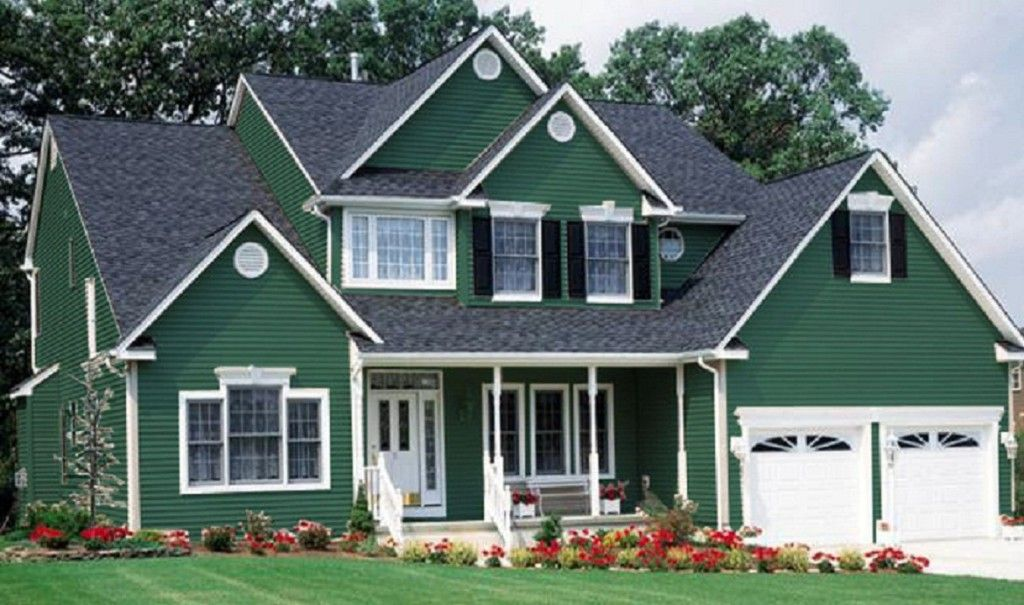 Green Outdoor Paint Part - 49: Pretty Houses Painted Green With New Green House Colors With House Paint  Ideas Exterior Green Colors On Architecture