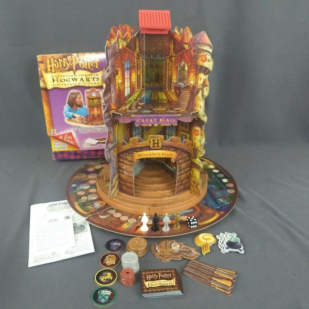 Harry Potter Adventures Through Hogwarts Electronic 3d Game 2001 Mattel Complete Mattel Harry Potter Board Game Hogwarts Labyrinth Board Game