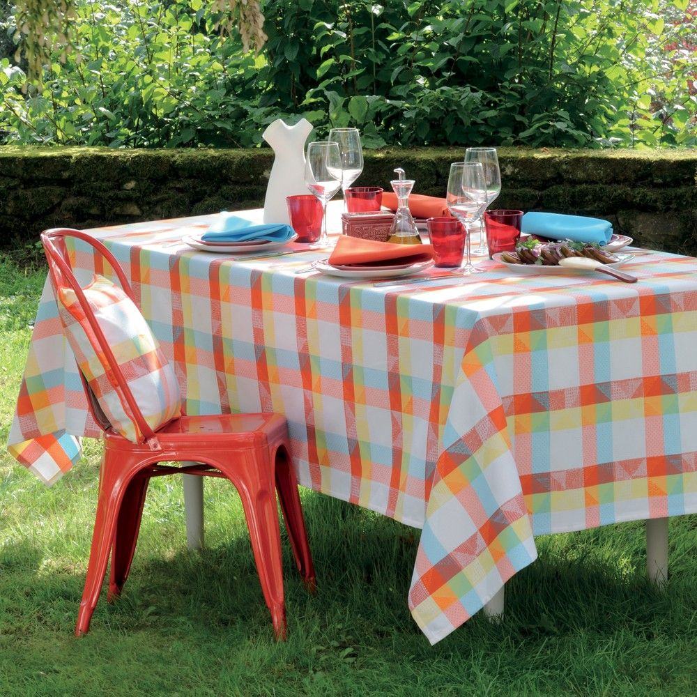 Nappe mille stars flash nappes garnier et coton - Nappe coton enduit table ...