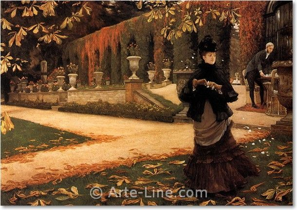 James Tissot; The Letter; arte line; quadri; copie; dipinti ...