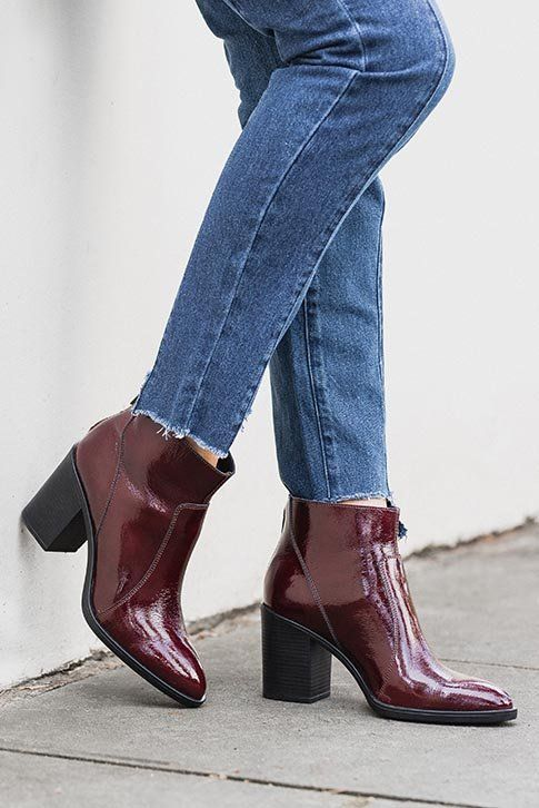 Thick heel boots, Mid heel ankle boots