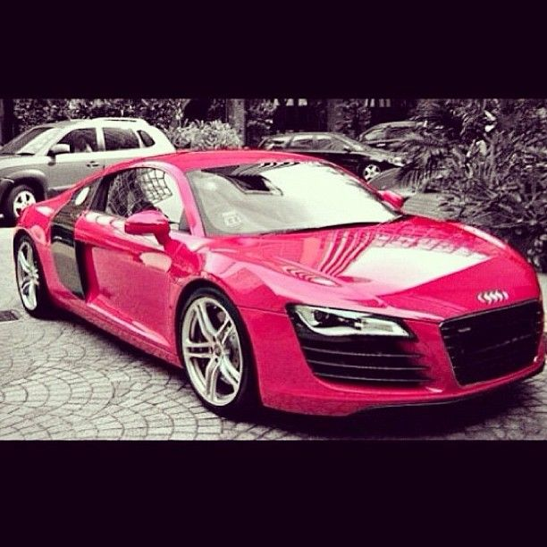 Pink Audi R8 - yes please
