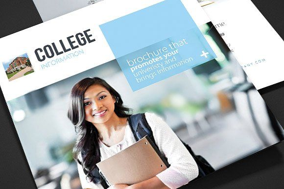 College  School Trifold Brochure By PixartPm On Creativemarket