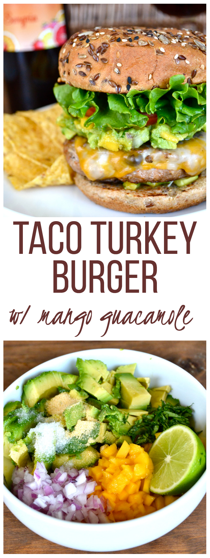 Taco Turkey Burger with Mango Guacamole - Little Bits of...