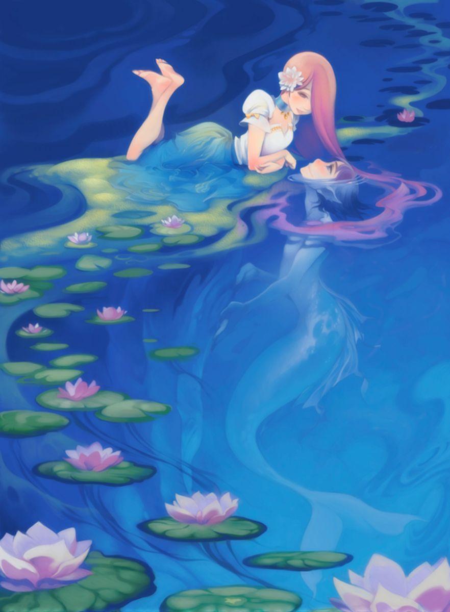 The Art Of Animation, ShiroTsuki. Human girl and mer boy ...