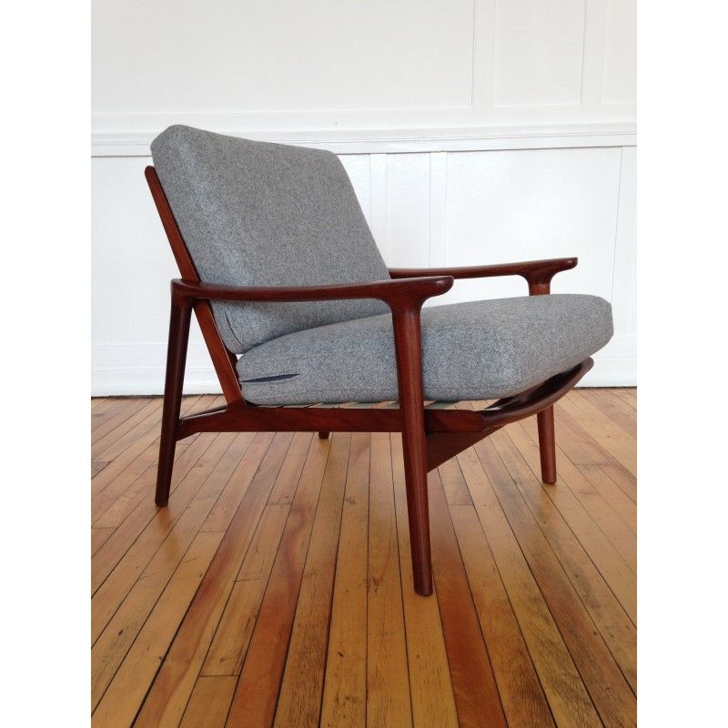 Danish Style Guy Rogers New Yorker Low Back Armchair Retro Mid Century In  Home, Furniture U0026 DIY, Furniture, Chairs