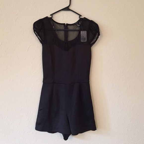 Black Romper Brand new black romper with mesh on top Forever 21 Other