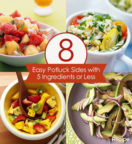 40 Easy Potluck Recipes For Your Graduation Party: 8 Easy Potluck Side Dishes With 5 Ingredients Or Less