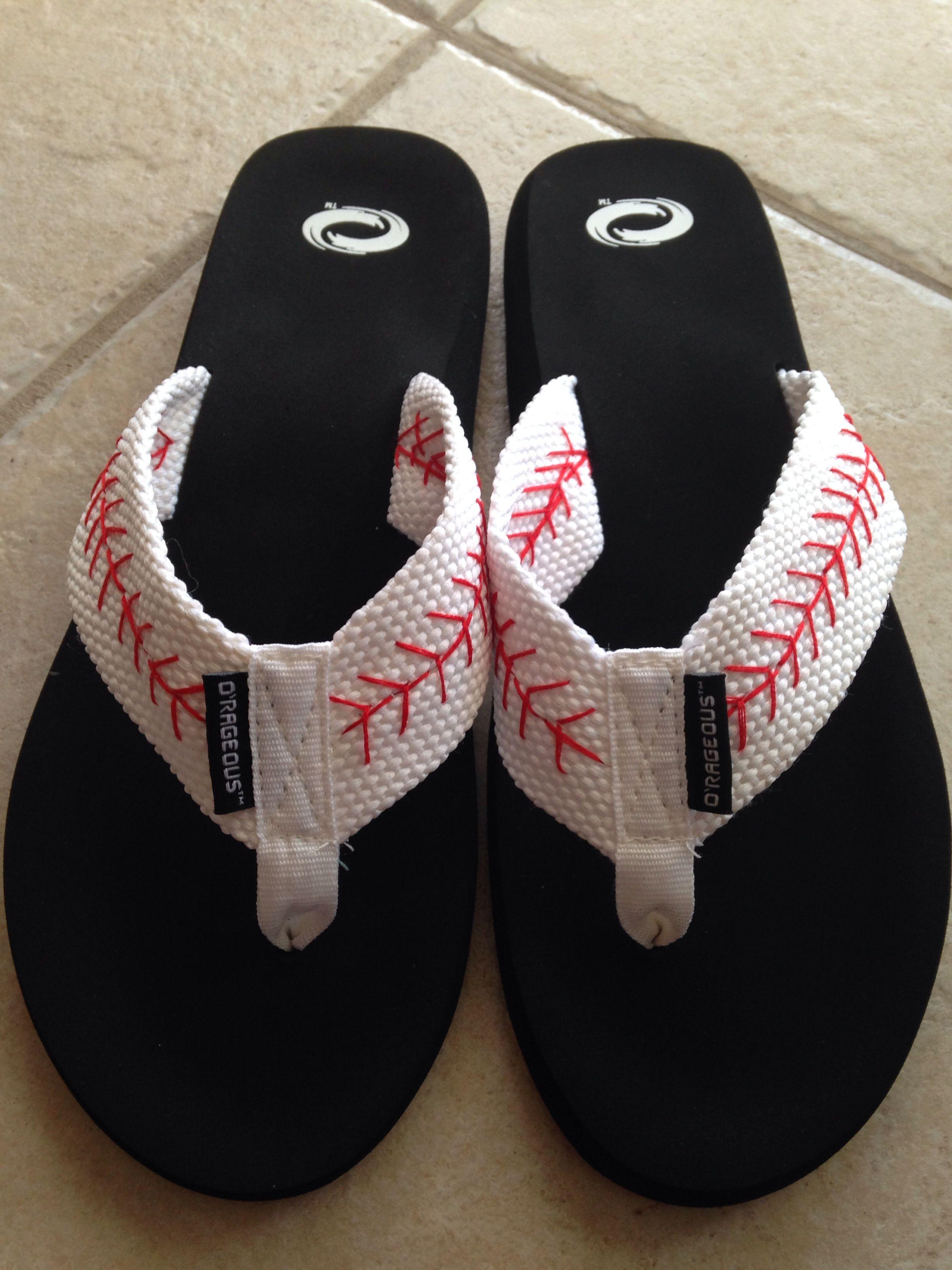 30dae5800135 Diy baseball flip flops