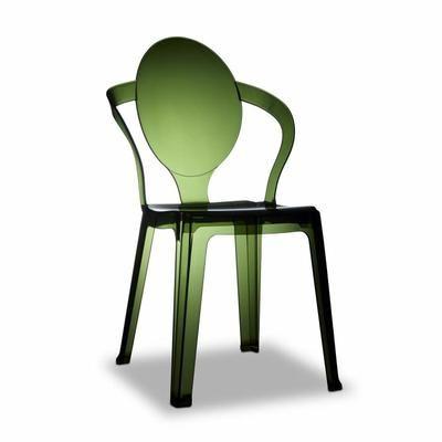 Chaise Transparente Verte Design