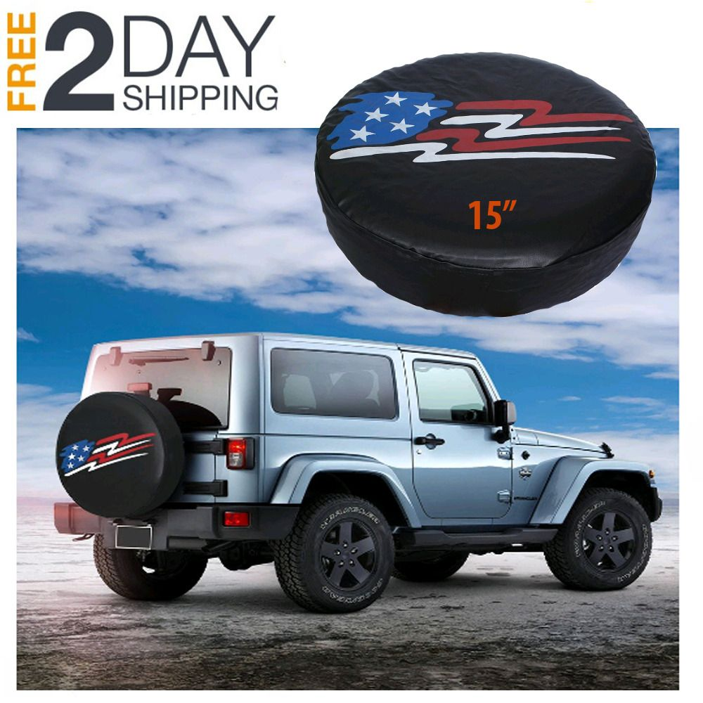Advertisement Ebay 15 Spare Tire Covers Protection Black Custom