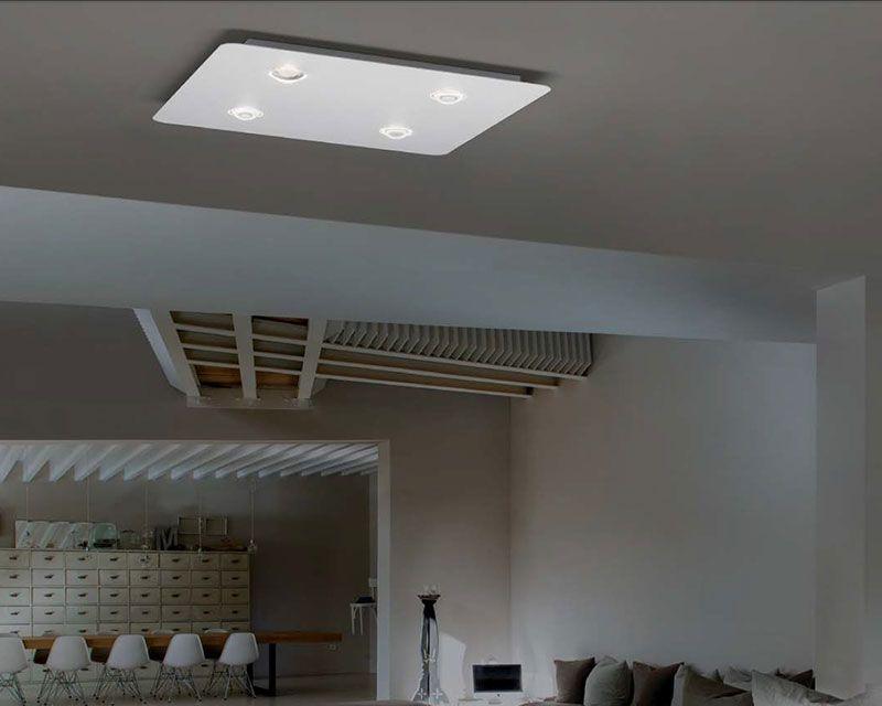 Plafoniere Design : Frozen pl studio italia design plafoniera led 4 luci dimmerabile