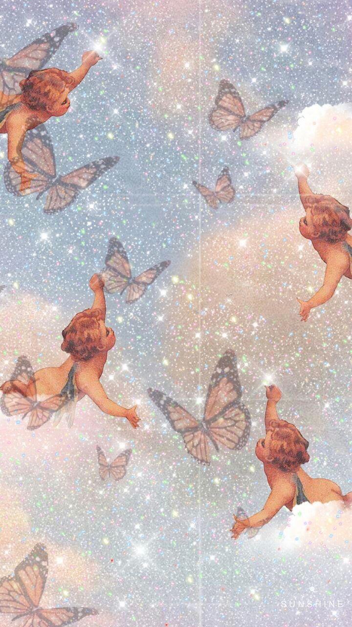 Baby Angel Butterfly Wallpaper X Angel Wallpaper Cute Wallpaper Backgrounds Iphone Wallpaper Vintage