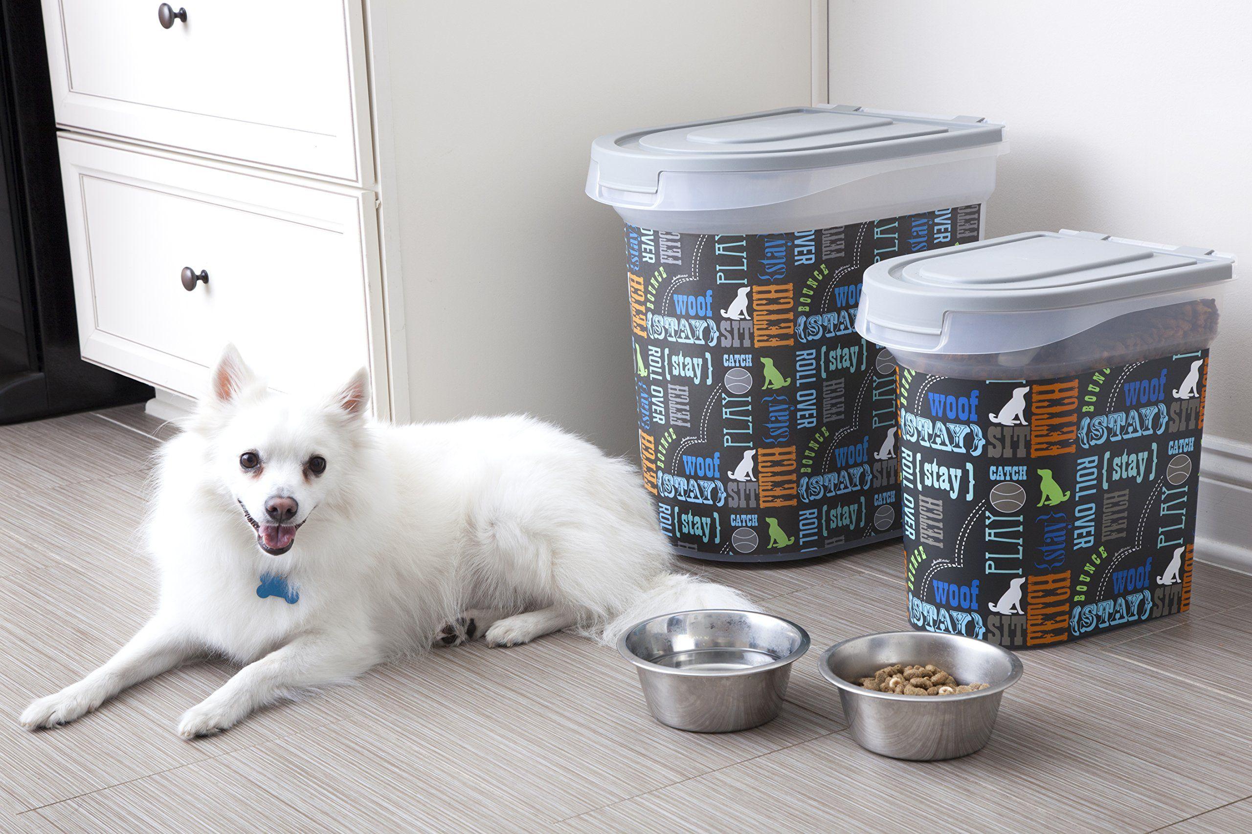 Paw Prints 15 Pound Pet Airtight Food Storage Container Wordplay
