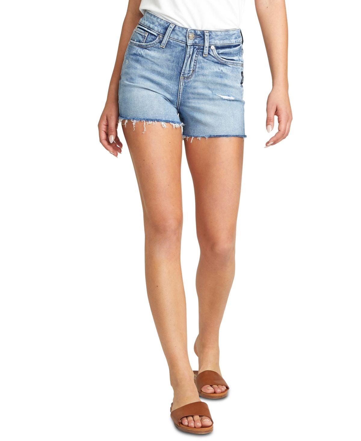 Silver Jeans Co. Avery Denim Cutoff Shorts - Indigo