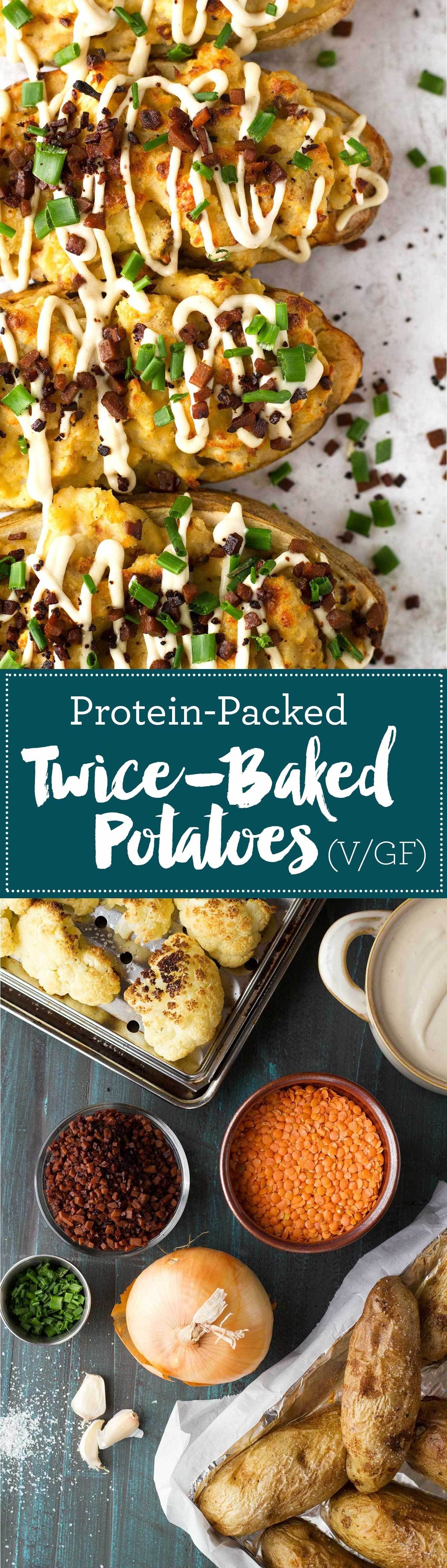 Protein Packed Twice Baked Potatoes