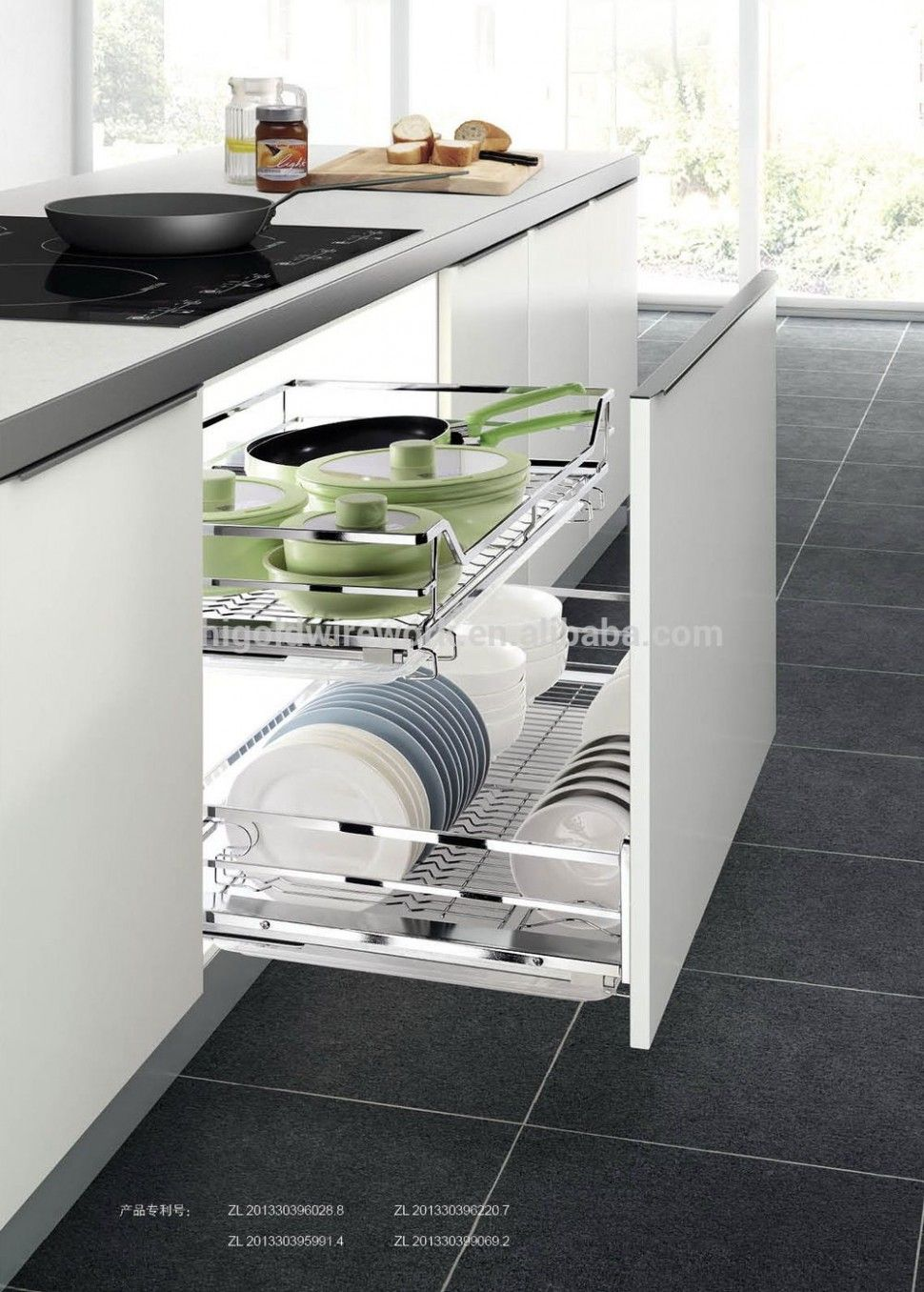 Kitchen Interior Basket Air fryers are accomplished for affable