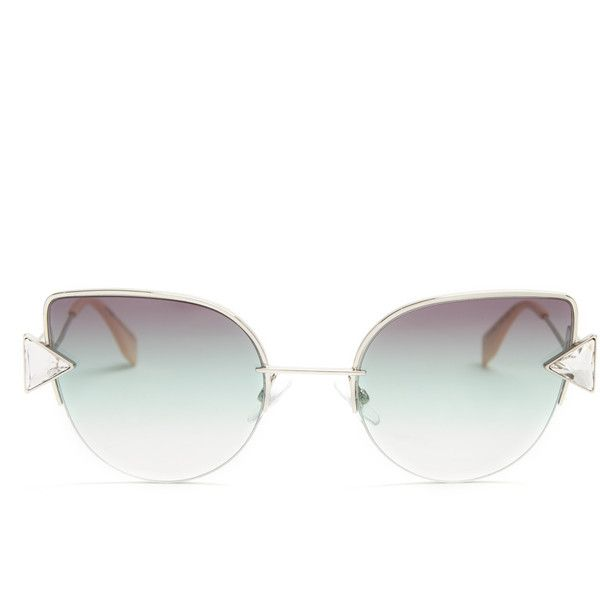 70b14bbd681 Fendi Rainbow cat-eye sunglasses ( 390) ❤ liked on Polyvore featuring  accessories