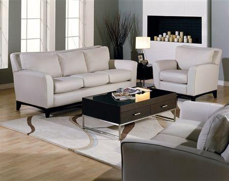 Palliser India contemporary stationary sofa, room view ...