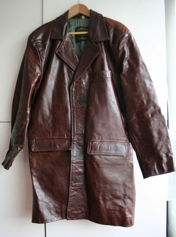 Big leather coat