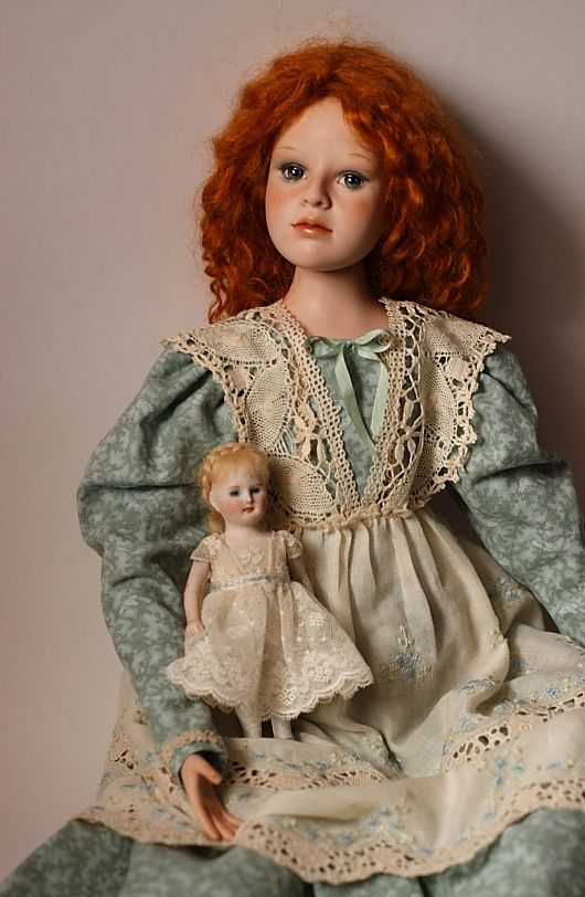 Porcelain Doll Elena Grineva girl with a doll