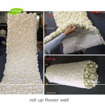 GNW FLW1606012-CL New arrival Wholesale Artificial flower wall cloth with rose and hydrangea for wedding decoration #decorationevent