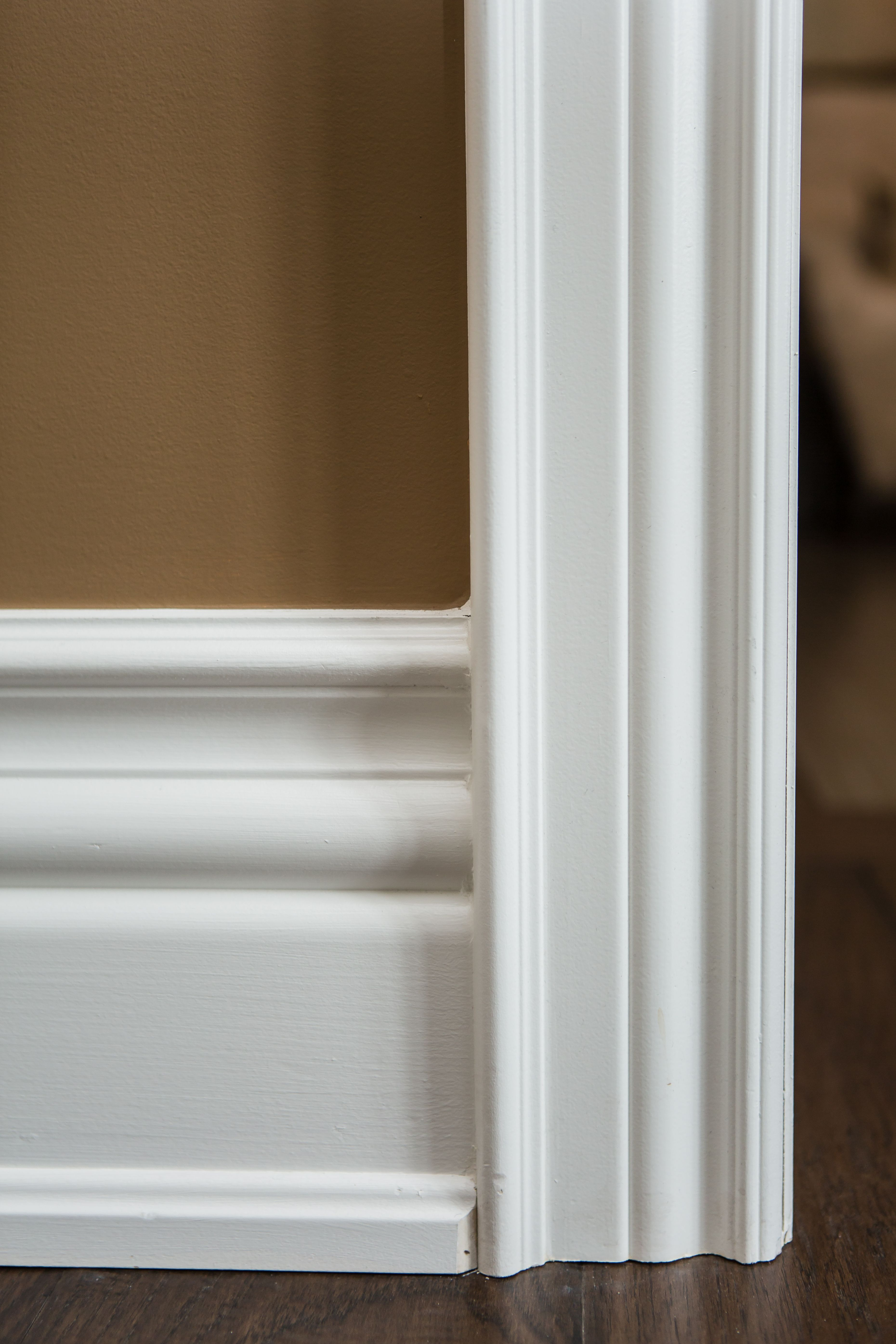 Colonial Baseboard And Colonial Casing With Backband Basement