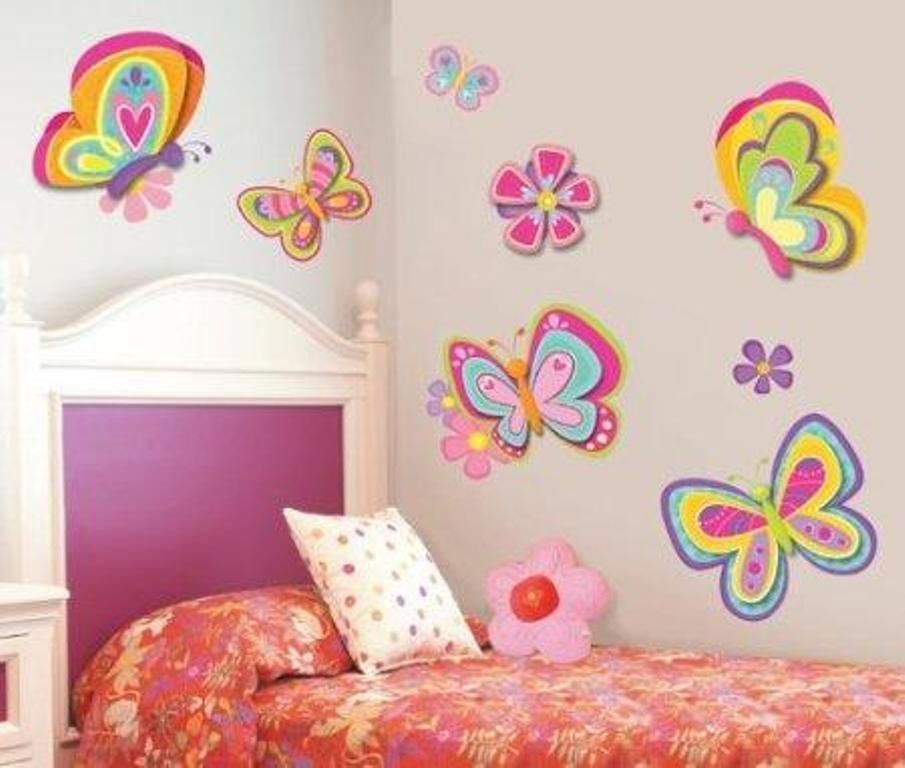 Lively Butterfly Themed Bedroom | Ideas for My Home | Girls bedroom ...