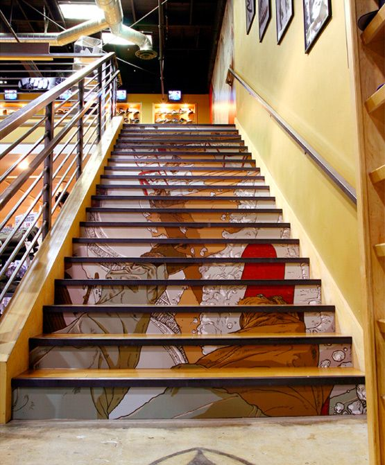 Stair Art Stare Case Art Pinterest Stair Art And