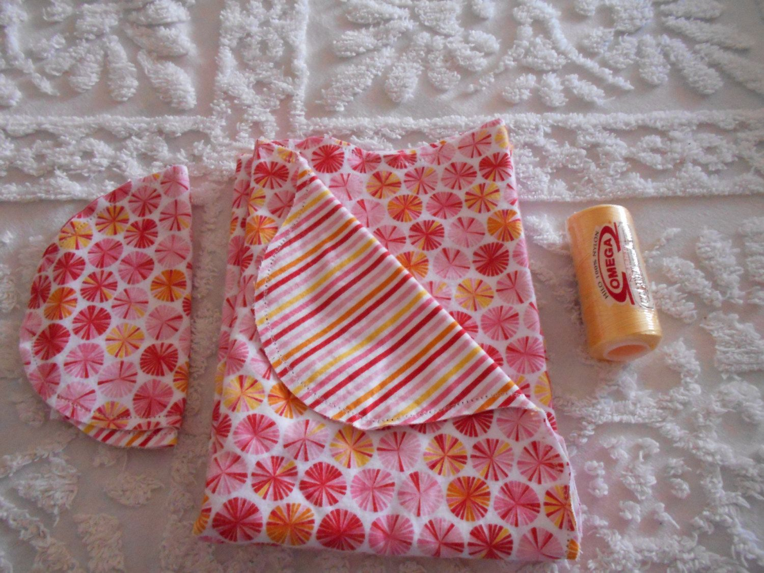 Baby Girl Candy - Receiving Blanket and Burp Cloth by TheRedGeranium on Etsy