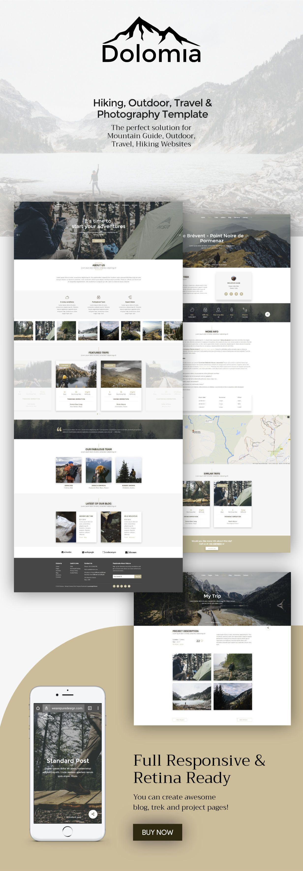 Dolomia - Hiking, Outdoor, Mountain Guide HTML Template | Clean ...