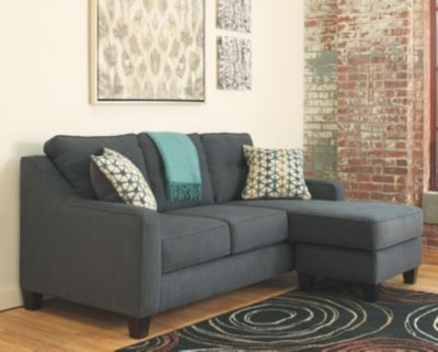 Shayla Sofa Chaise by Ashley HomeStore, Dark Gray
