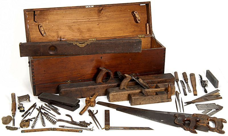 Woodworking Hand Tools And Toolbox From The Minnesota State