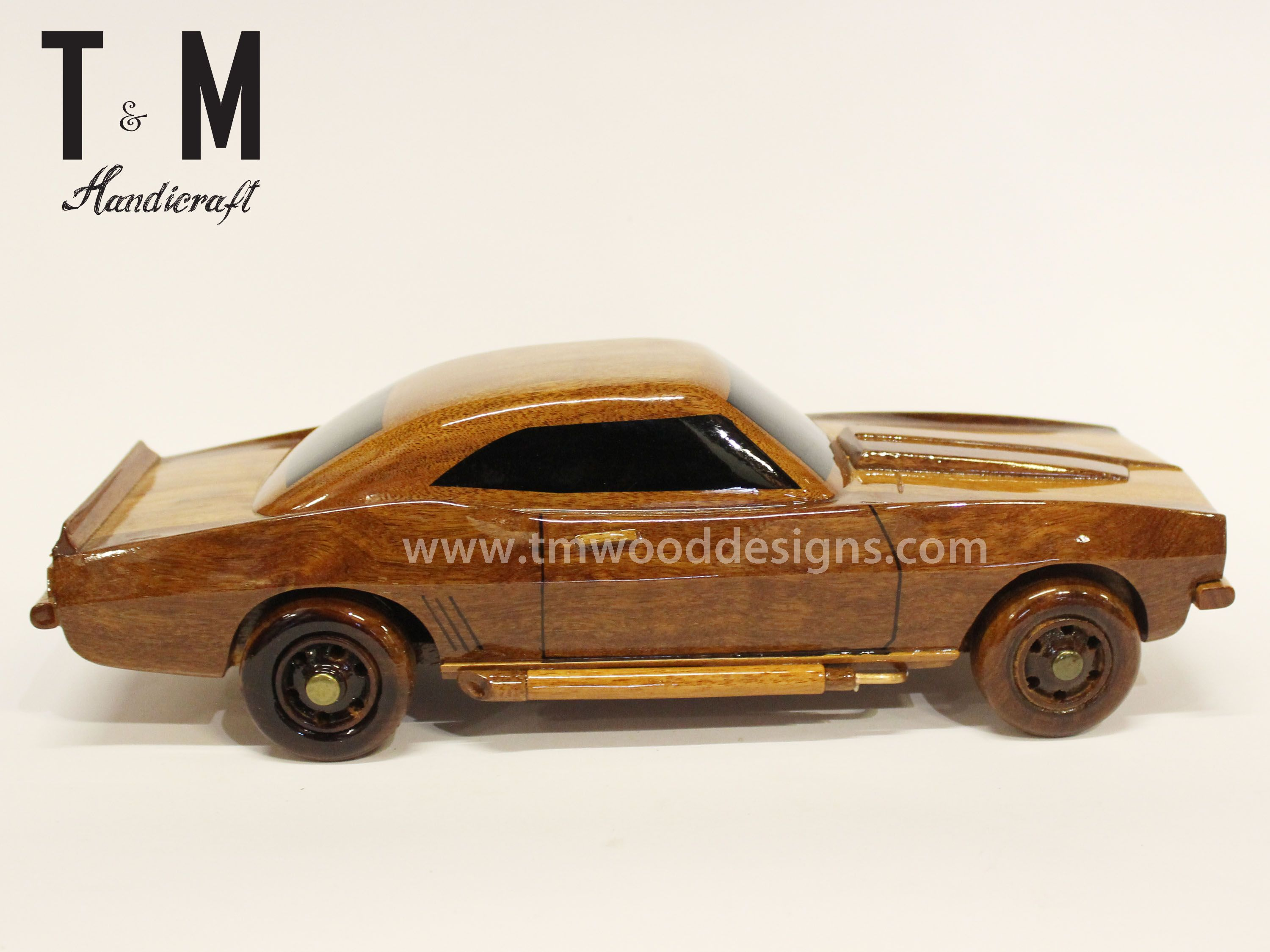 Chevrolet Corvette Stingray Mahogany Wood Model Car
