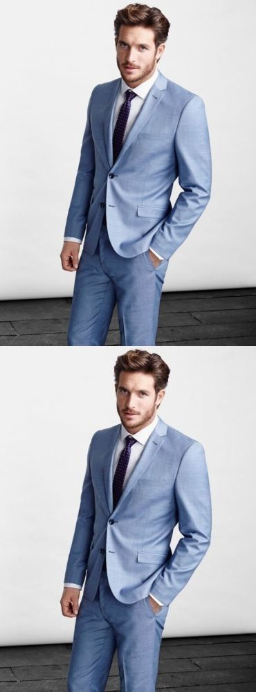 2017 New Arrival Sky Blue Notch Lapel Groomsmen Tuxedos Weddings ...