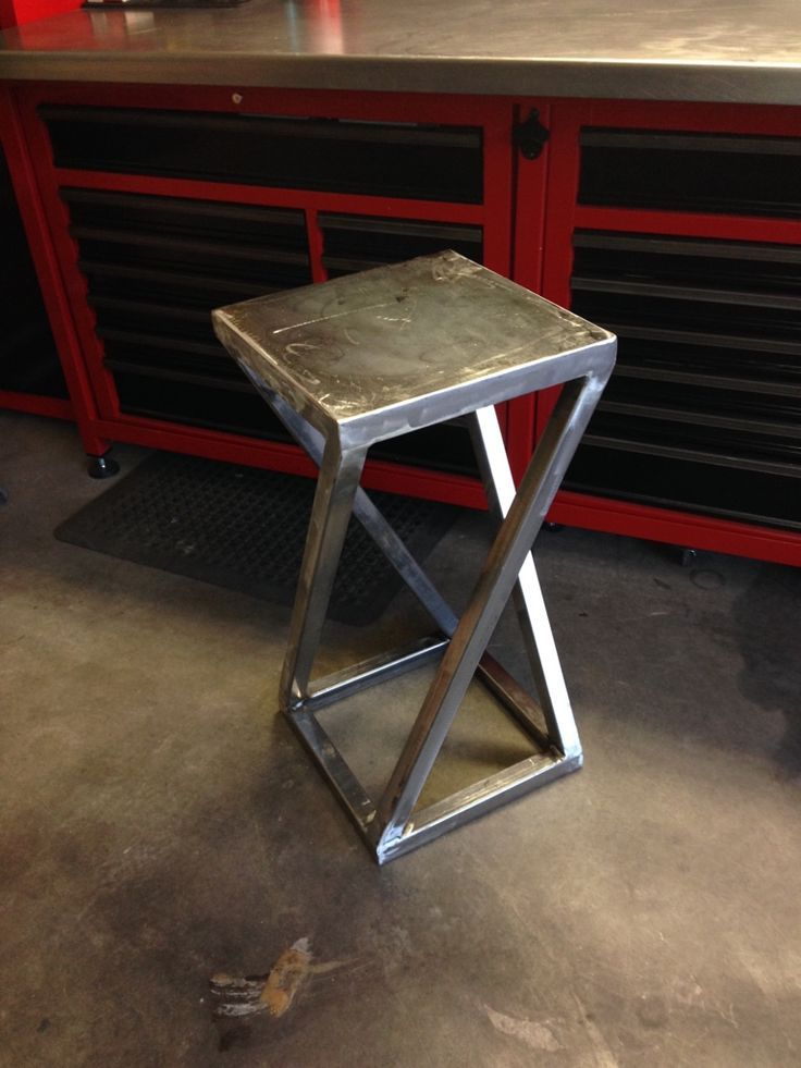 welding projects metal table crafts stool diy bar welded rebar garage working using furniture arc decor classes homemade fabrication wood
