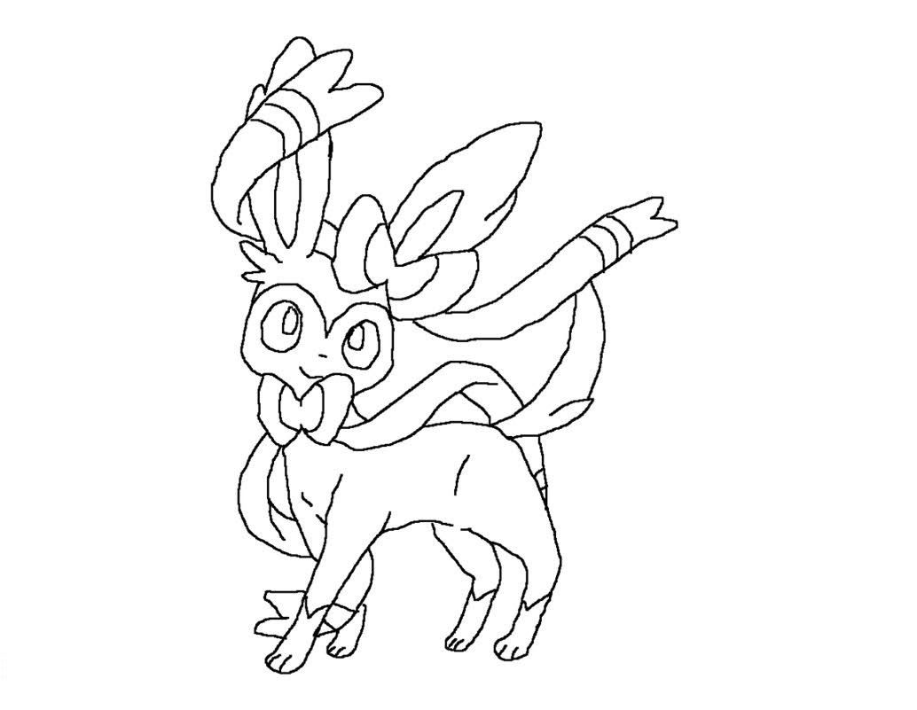 Sylveon Pokemon Coloring Pages Di 2020