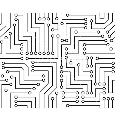 Black and white printed circuit board free vector on