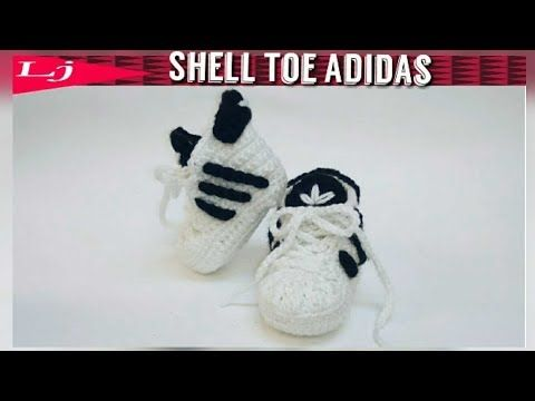 DIY crochet baby sneakers //Vasilisa - YouTube   zapatitos niño ...
