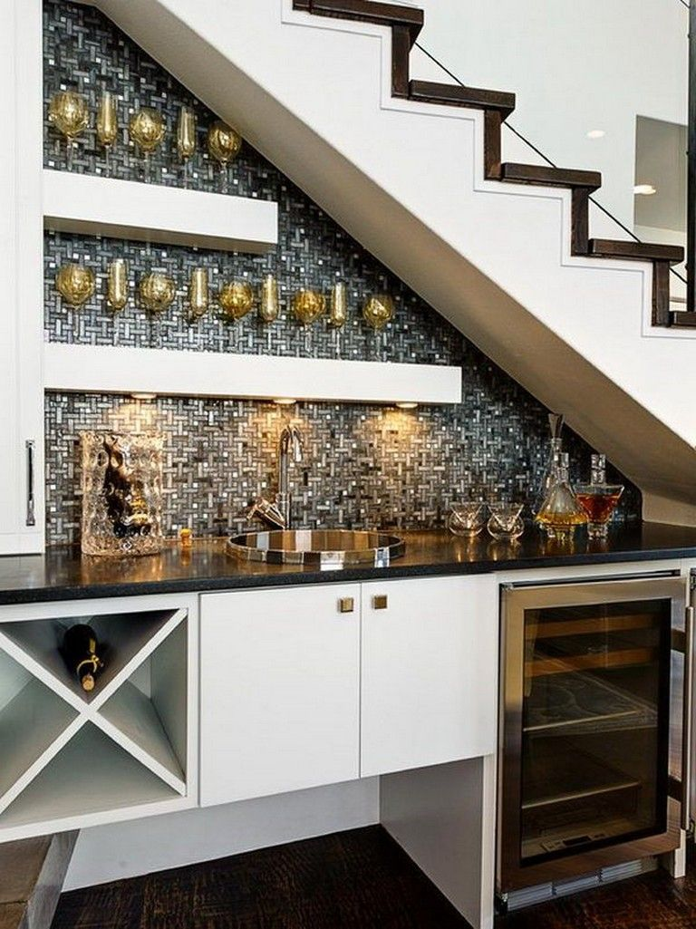 15++ Home bar under stairs trends