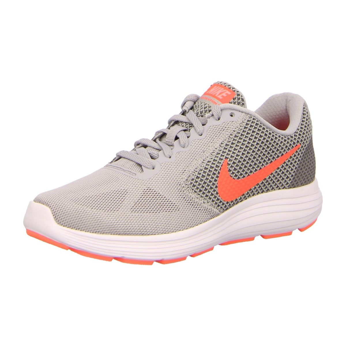 NEU: Nike Sneaker WMNSRevolution3 - 819303 002 - wlf grey/hypr orng-cl