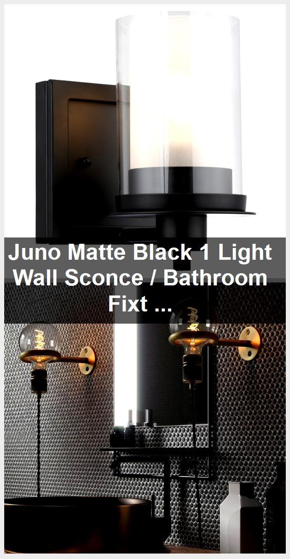 Photo of Juno Matte Black 1 Light Wall Sconce / Bathroom Fixture: 73482,  #Bathroom #black #Fixture #J…