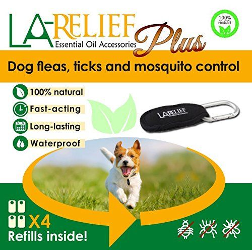 Natural Flea And Tick Control Collar Clip And Mosquito Repellent By La Relief Includes 4 Refills New And Improved 100 Thera Tick Control Fleas Flea And Tick