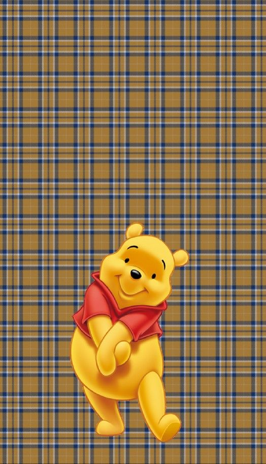 Winnie The Pooh Disney Lock Screen Wallpaper Plaid Cute Cartoon Wallpapers Winnie The Pooh Drawing Cute Disney Wallpaper